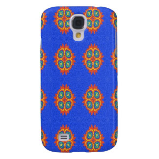 Abstract circle shape on blue background galaxy s4 case
