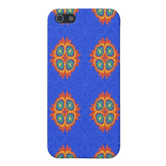 Abstract circle shape on blue background iPhone 5/5S cases