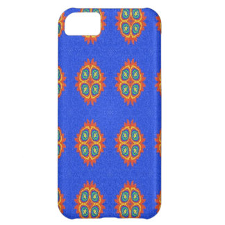 Abstract circle shape on blue background iPhone 5C case
