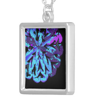 ABSTRACT CIRCLE WYCINANKI G SQUARE PENDANT NECKLACE