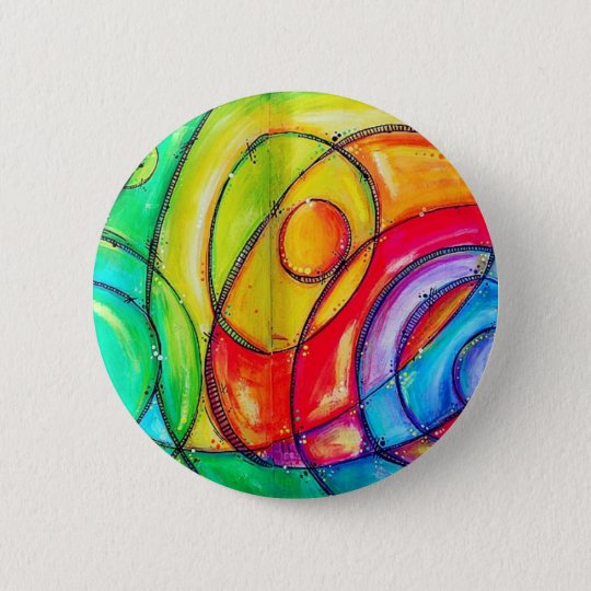 Abstract Circles 6 Cm Round Badge