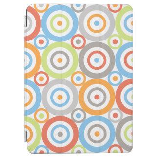 Abstract Circles Big Pattern Color Mix & Greys iPad Air Cover