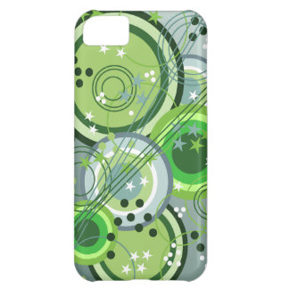 Abstract Circles Dots Stars iPhone 5C Case