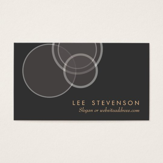 Abstract Circles Modern Profile Business Card