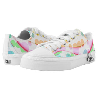 Abstract Circles On Low Top Shoes Printed Shoes