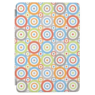 Abstract Circles Pattern Color Mix & Greys iPad Air Cover