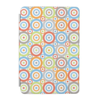 Abstract Circles Pattern Color Mix & Greys iPad Mini Cover