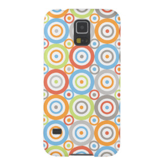Abstract Circles Pattern Colour Mix & Greys Case For Galaxy S5