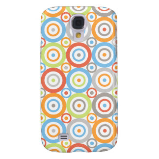 Abstract Circles Pattern Colour Mix & Greys Galaxy S4 Case