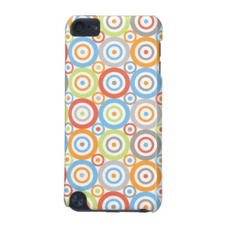 Abstract Circles Pattern Colour Mix & Greys iPod Touch (5th Generation) Cases
