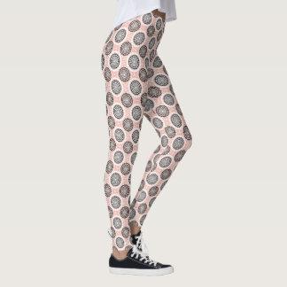 Abstract Circles Pattern leggings