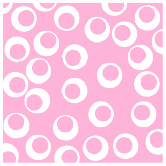 Abstract Circles Pattern. Pink and White. Standing Photo Sculpture