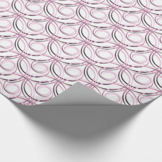 Abstract circles pattern wrapping paper