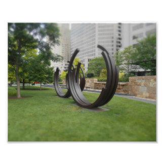 Abstract circles art photo