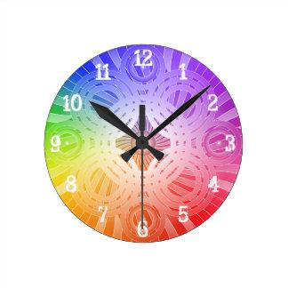 Abstract Circles: Wall Clock