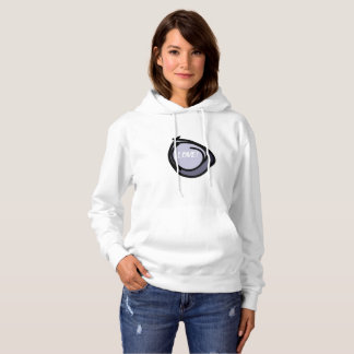 Abstract circles with black border blue back/g hoodie