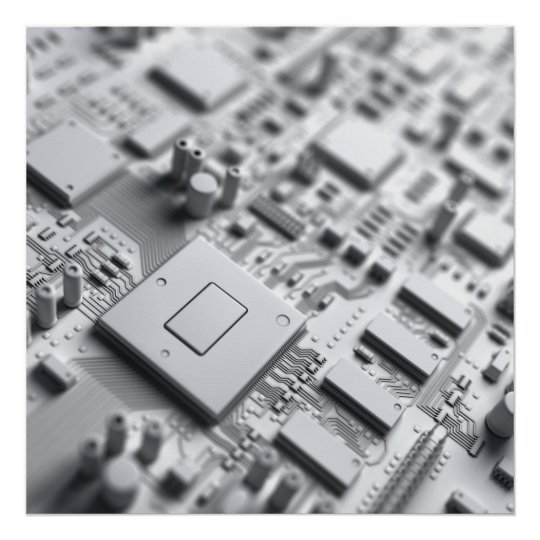 Abstract Circuit Board Poster