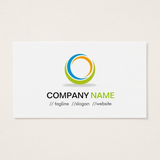 Abstract Circular Logo Modern Stylish Customisable Business Card