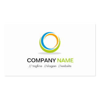 Abstract Circular Logo Modern Stylish Customizable Pack Of Standard Business Cards