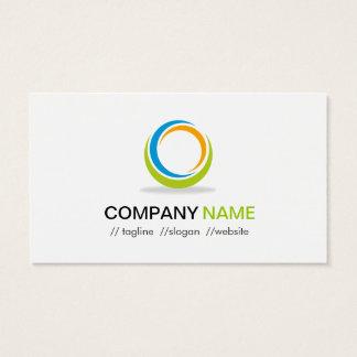 Abstract Circular Logo Modern Stylish Customizable Business Card