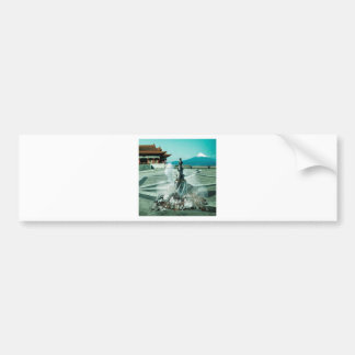 Abstract City Arrive China Bumper Sticker