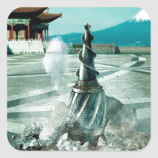 Abstract City Arrive China Square Sticker