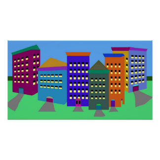 Abstract City Art Poster