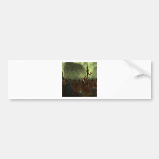 Abstract City Battle Bumper Sticker