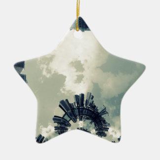 Abstract City Ceramic Star Decoration