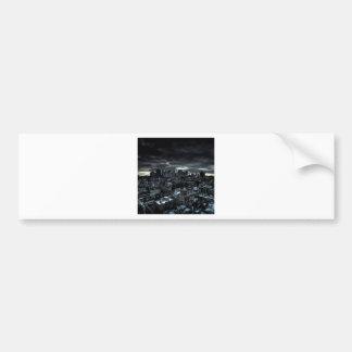 Abstract City Dark City Bumper Sticker