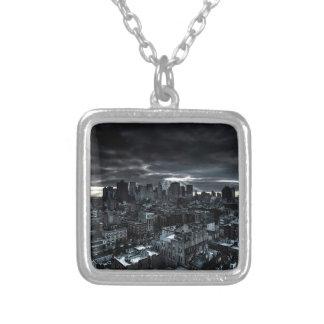 Abstract City Dark City Custom Necklace