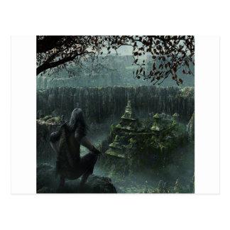 Abstract City Hidden Postcard