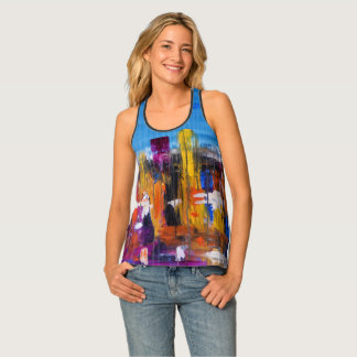 Abstract City in the Rain Woman Tank Top