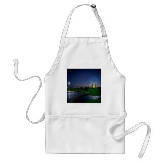 Abstract City Late Celebration Apron