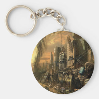 Abstract City Left Ruins Keychains