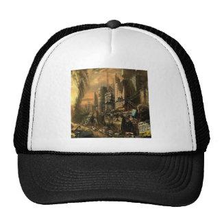 Abstract City Left Ruins Trucker Hats