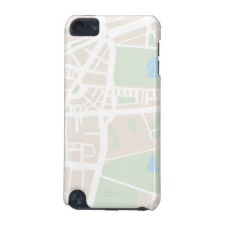 Abstract city map for globetrotter iPod touch (5th generation) covers