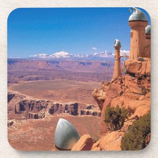 Abstract City Mars Living Coasters