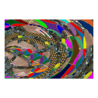 ABSTRACT: City rush, Stadium,Arena,Race Course fun Posters