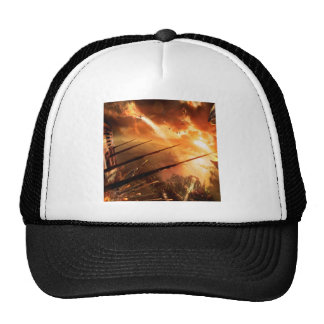 Abstract City Space Battle Trucker Hat