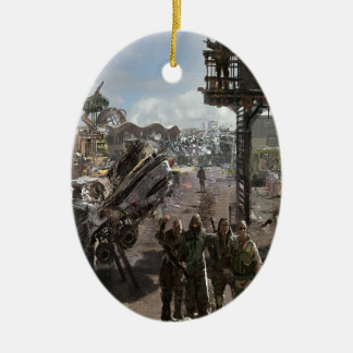 Abstract City Survival Christmas Ornaments