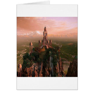 Abstract City Temple Of Light Card