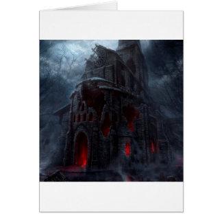 Abstract City Vampire Mill Greeting Card