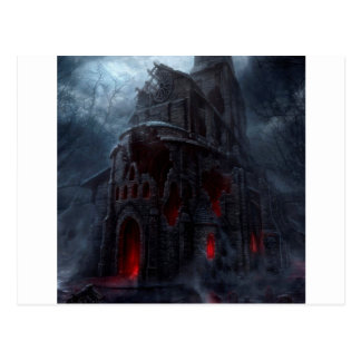 Abstract City Vampire Mill Postcard