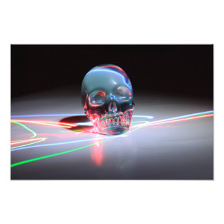 Abstract Clear Skull Photo Print