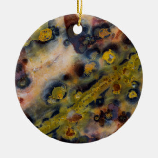 Abstract close up of Ocean Jasper Round Ceramic Decoration
