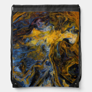 Abstract close up of Pietersite Drawstring Bag