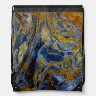 Abstract Close up of Pietersite Drawstring Bag