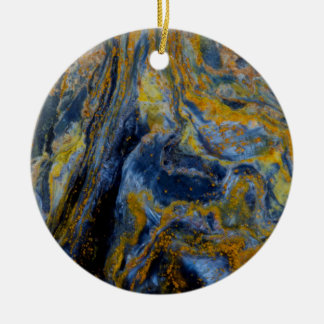 Abstract Close up of Pietersite Round Ceramic Decoration