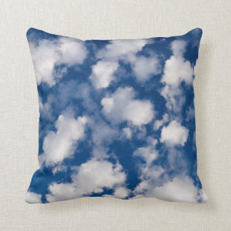 Abstract cloud pattern cushion